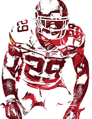 Mixed Media - Eric Berry Kansas City Chiefs Pixel Art 2 by Joe Hamilton
