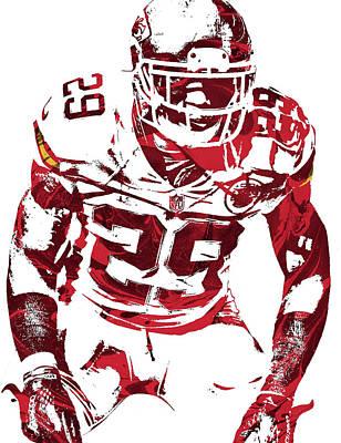 Art Print featuring the mixed media Eric Berry Kansas City Chiefs Pixel Art 2 by Joe Hamilton
