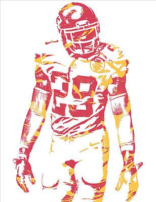 Kansas Mixed Media - Eric Berry Kansas City Chiefs Pixel Art by Joe Hamilton