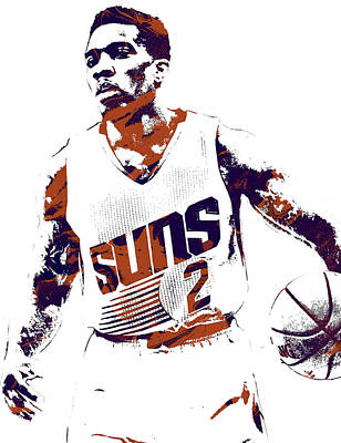 Phoenix Mixed Media - Eric Bledsoe Phoenix Suns Pixel Art by Joe Hamilton