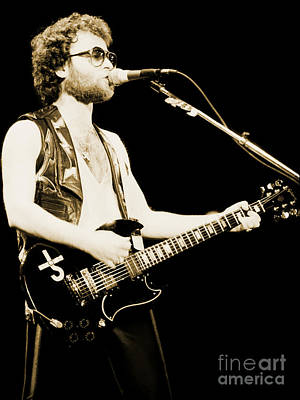Photograph - Eric Bloom Of Blue Oyster Cult - Cow Palace 12-31-79 by Daniel Larsen