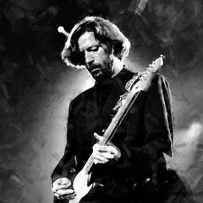 Painting - Eric Clapton - 03 by Andrea Mazzocchetti