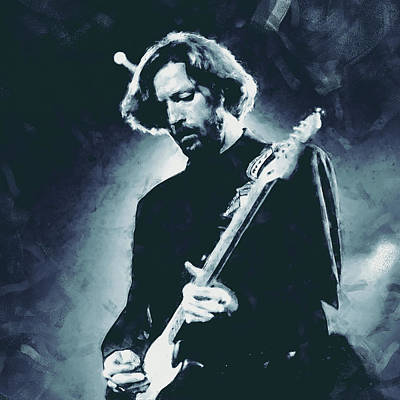 Painting - Eric Clapton - 04 by Andrea Mazzocchetti