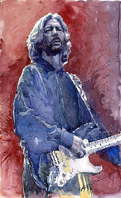 Music Instrument Wall Art - Painting - Eric Clapton 04 by Yuriy Shevchuk