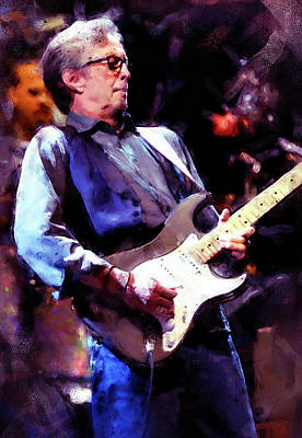 Painting - Eric Clapton - 05  by Andrea Mazzocchetti