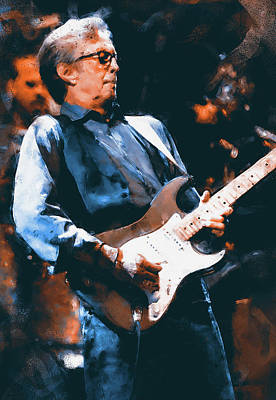 Painting - Eric Clapton - 06 by Andrea Mazzocchetti