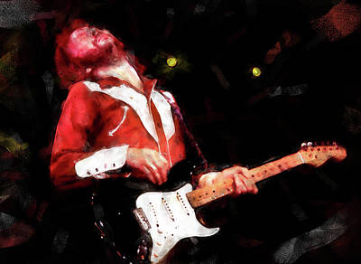 Painting - Eric Clapton - 09 by Andrea Mazzocchetti