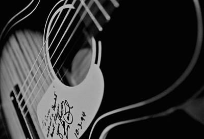 The Les Paul Guitar Photograph - Eric Clapton - 1960's Silvertone by Lisa Johnson