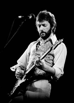 Print featuring the photograph Eric Clapton 1977 Bo 2 by Chris Walter