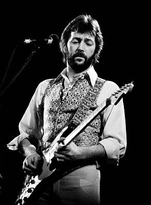 Music Photograph - Eric Clapton 1977 by Chris Walter