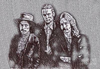 Eric Clapton Drawing - Eric Clapton And Cream Drawing by Pd