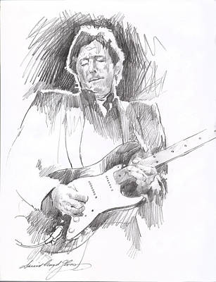 Stratocaster Drawing - Eric Clapton Blackie by David Lloyd Glover