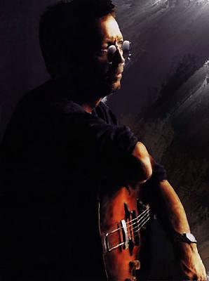 Eric Clapton Portrait Painting - Eric Clapton by Brian Tones