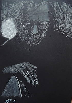 Eric Clapton Drawing - Eric Clapton by David Briot
