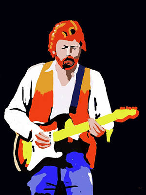 Digital Art - Eric Clapton Loose Sketch by Keshava Shukla