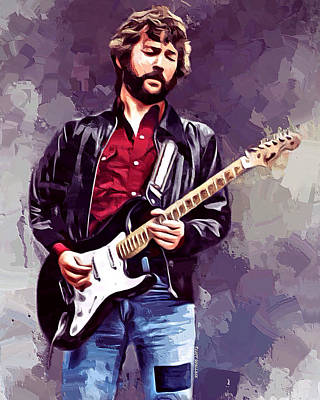 Eric Clapton Digital Art - Eric Clapton Painting by Scott Wallace