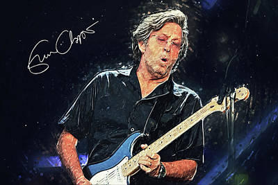 John Mayer Digital Art - Eric Clapton by Taylan Apukovska