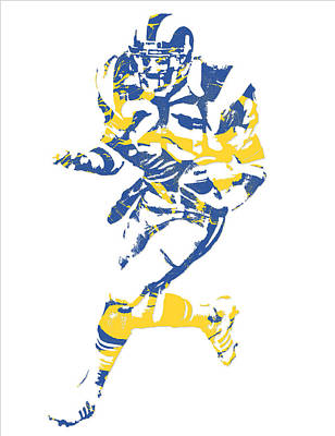 Mixed Media - Eric Dickerson Los Angeles Rams Pixel Art 1 by Joe Hamilton