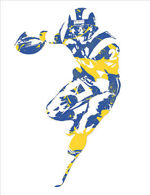 Mixed Media - Eric Dickerson Los Angeles Rams Pixel Art 2 by Joe Hamilton