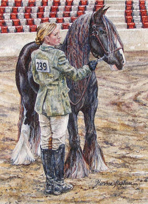 Painting - Erica Waiting - Win Or Lose  by Denise Horne-Kaplan