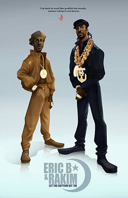 Golden Digital Art - Ericb And Rakim by Nelson Garcia