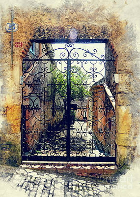 Sicily Painting - Erice Art 9 Sicili by Justyna JBJart