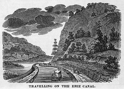 1835 Photograph - Erie Canal, 1835 by Granger