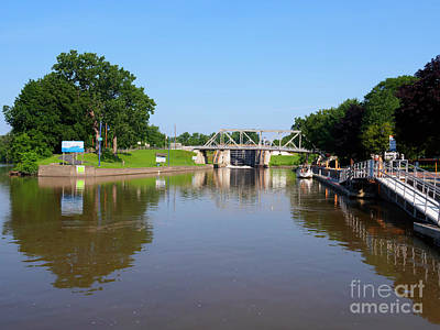Photograph - Erie Canal Lock E2 And Town Dock At Waterford New York by Louise Heusinkveld