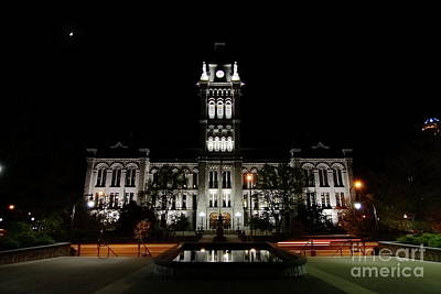 Erie County Hall At Night. Art Print