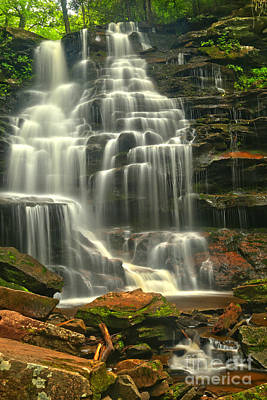 Photograph - Erie Falls At Ricketts Glen by Adam Jewell