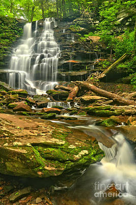 Photograph - Erie Falls Cascades by Adam Jewell