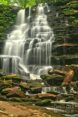 Photograph - Erie Falls Gentle Cascades by Adam Jewell