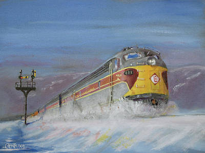 Art Print featuring the painting Erie Lackawanna Holiday by Christopher Jenkins