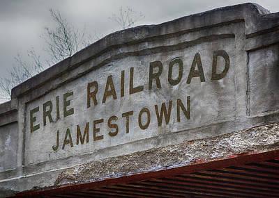 Erie Railroad Bridge Art Print