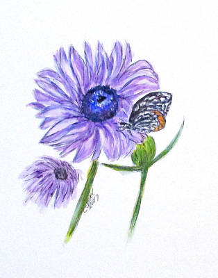 Painting - Erika's Butterfly Three by Clyde J Kell