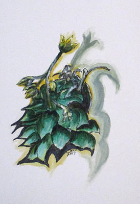 Painting - Erika's Spring Plant by Clyde J Kell
