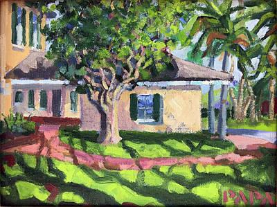 Painting - Eriksen House On Hypoluxo Island by Ralph Papa