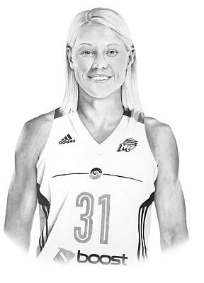 Drawing - Erin Phillips by Devin Millington