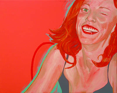 Art Print featuring the painting Erin Winking by Kevin Callahan