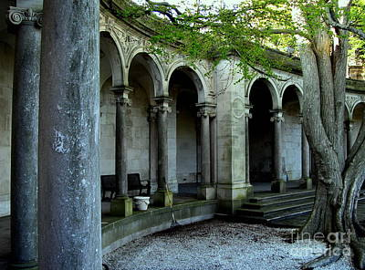 Photograph - Erlanger Garden Arches - Monmouth University by Colleen Kammerer