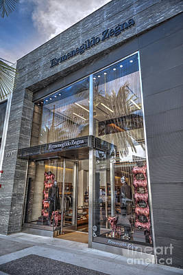 Photograph - Ermenegildo Zegna Boutique Beverly Hills by David Zanzinger