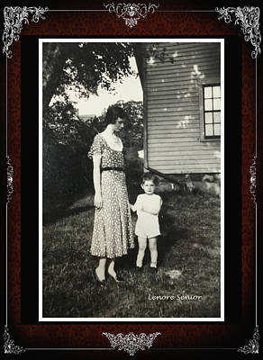 Photograph - Ernest And Aunt Anna by Lenore Senior