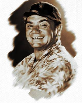 State Word Art - Ernest Borgnine, Actor by Esoterica Art Agency