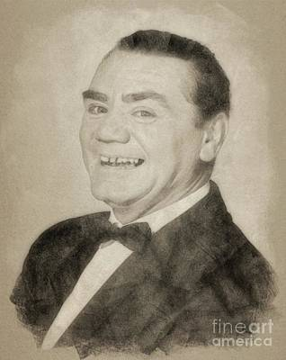 Musicians Drawings Rights Managed Images - Ernest Borgnine Hollywood Actor Royalty-Free Image by Esoterica Art Agency