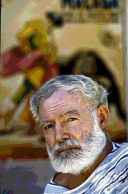 Mixed Media - Ernest Hemingway by Charles Shoup