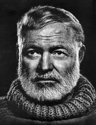 Hunters Photograph - Ernest Hemingway by Daniel Hagerman