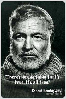 Painting - Ernest Hemingway  by Reproduction