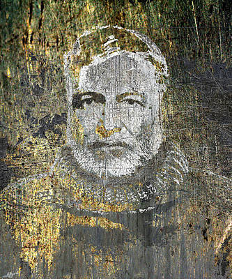 Literature Mixed Media - Ernest Hemingway by Tony Rubino