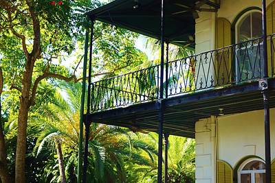 Hemingway House Wall Art - Photograph - Ernest Hemingway's Key West House Porch by Shannon Lee