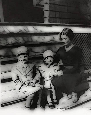 Photograph - Ernest, Judy And Aunt Anna by Lenore Senior